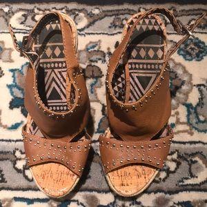 Brown wedge heels/sandals!